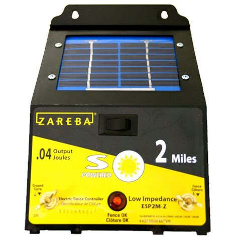solar fence chargers zareba 2 mile solar fence charger esp2m z the home depot