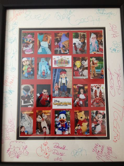 Disney Photo Mat - autograph photo mat with disney characters i like the way