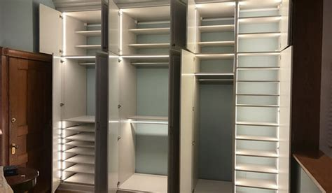 custom closet lighting options  led closet lights