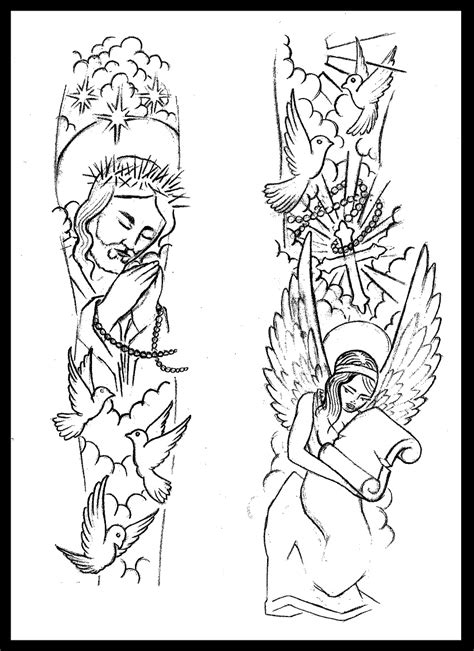 tattoo sleeve drawings sleeve drawings and coloring pages