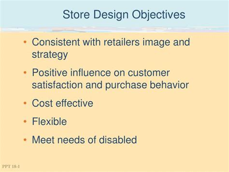 store layout design powerpoint ppt store design objectives powerpoint presentation id