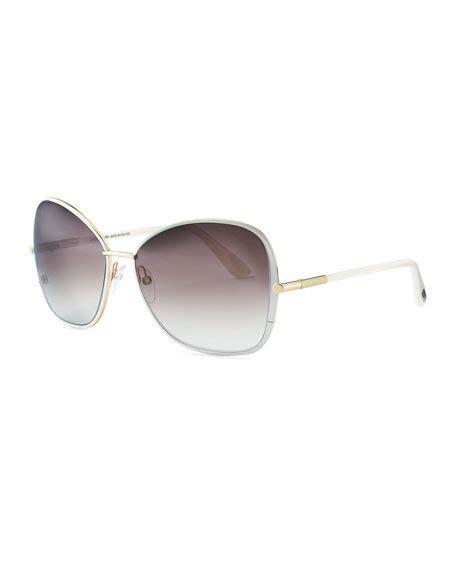 tom ford solange tom ford solange metal square sunglasses white