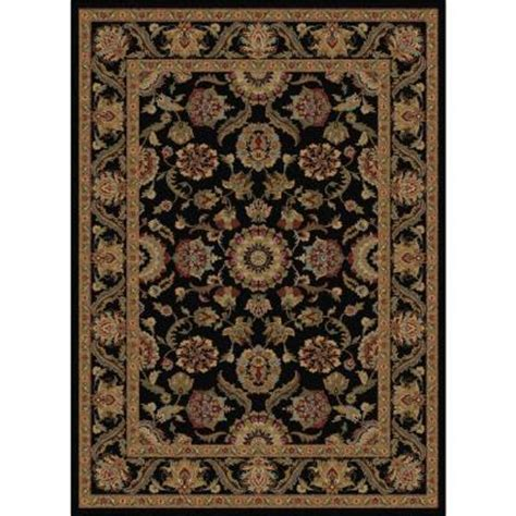 home depot rugs 5x8 tayse rugs sensation black 5 ft 3 in x 7 ft 3 in traditional area rug 4843 black 5x8 the