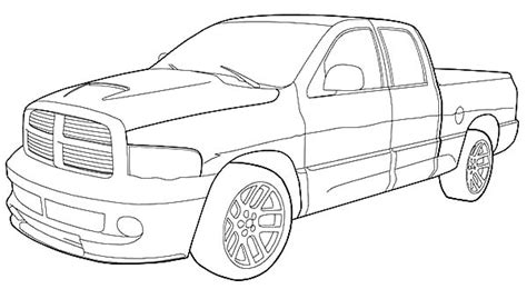 dodge truck coloring page pictures to pin on pinterest