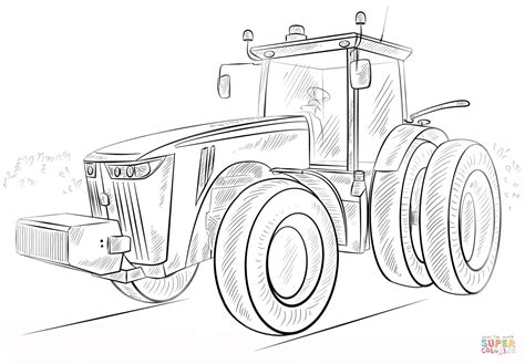 john deere tractor coloring page free printable coloring