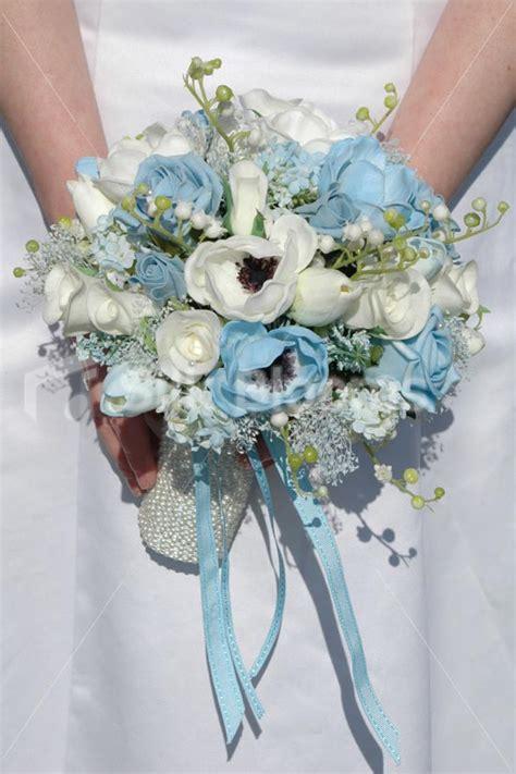 Wedding Bouquet Light Blue by Shop White Light Blue Anemone Tulip Bridal