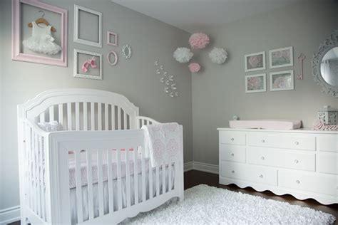 Stonington Gray Bedroom - pink and gray baby nursery tour oh she glows
