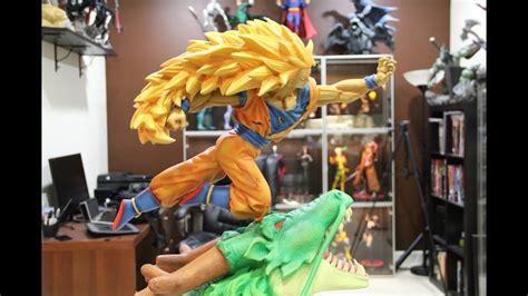super saiyan  goku custom statue youtube