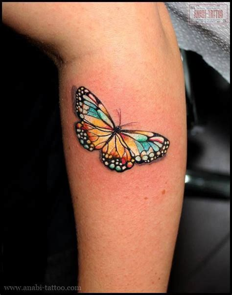 easy tattoo krakow colorful butterfly by anabi poland tattoos pinterest