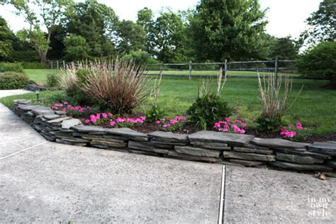 How To Build A Garden Wall On A Slope How To Build A Fieldstone Garden Wall In My Own Style