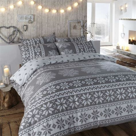 bedroom cover sets duvet cover in grey winter bedding in a warm flannelette