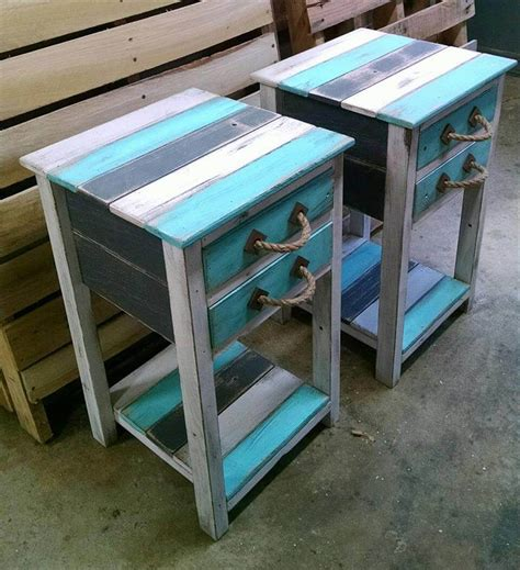 end tables made from pallets rustic pallet end tables