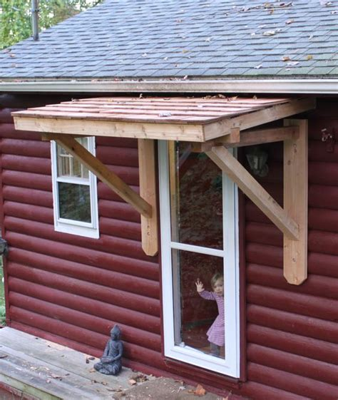 mobile home door awnings a shed style roofette isn t as elegant as a gable roofette