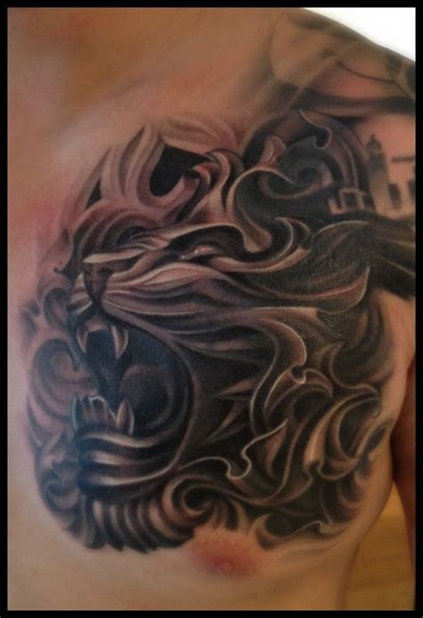 lion tattoo ideas cover up design idea for november 2012 artbytommyblog tattoos cover up