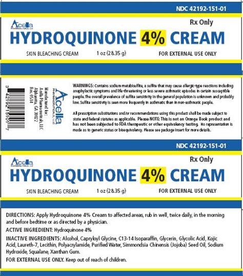 hydroquinone 4 information side effects warnings and