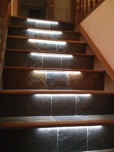 basement stairs lighting ideas overhead rustic design