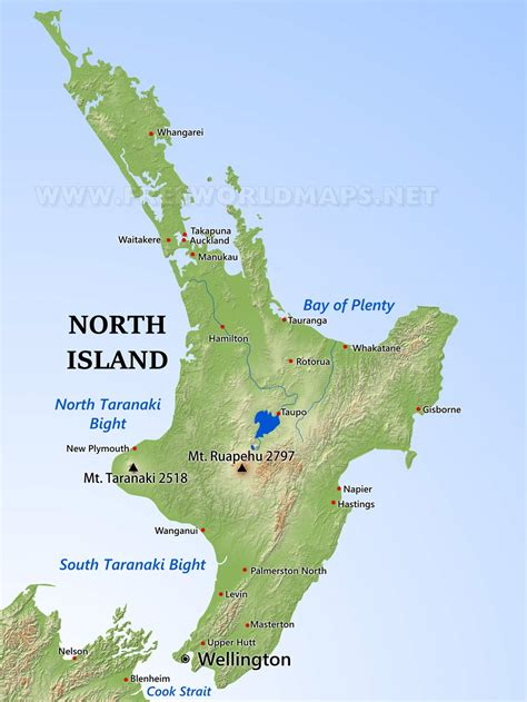 new zealand physical map physical map of new zealand island
