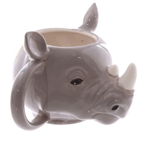 animal shaped mugs rhino head mug mad merch