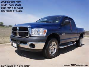 Dodge Ram 1500 Dealers For Sale 2008 Dodge Ram 1500 Truck Cab Trx4 4x4
