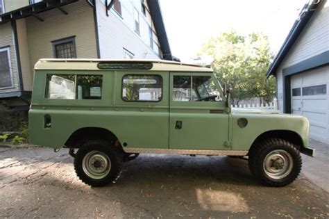 land rover series 3 4 door land rover series iii 109 quot 3 door wagon 1979 for sale