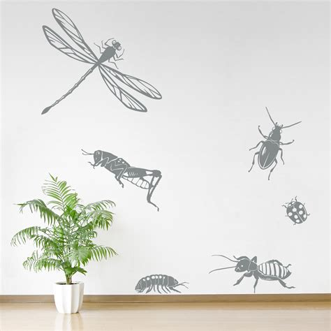 insect wall stickers insects set two wall decal