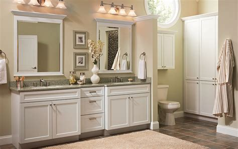 White Bathroom Cabinet Ideas | white cabinets are appropriate for bathroom remodel ideas