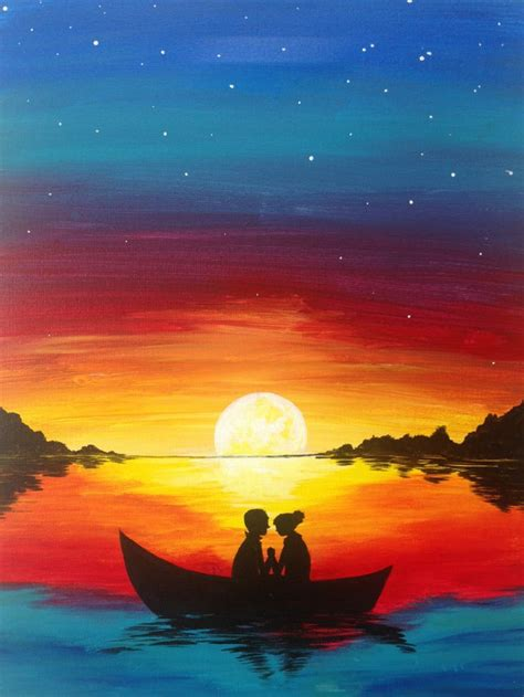 best l for painting paintings of a sunset www pixshark com images