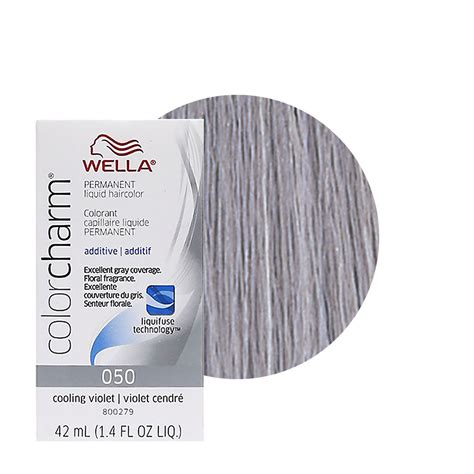 cooling violet toner wella on gray hair wella color charm permament liquid hair dye additive 42ml