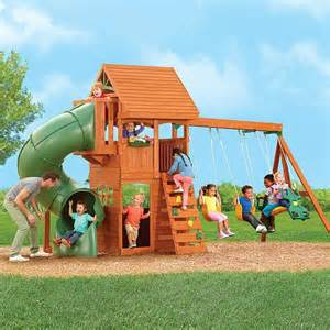 Playground Sets For Backyards Costco Berkley Wood Gym Set In The Good Ole Summertime
