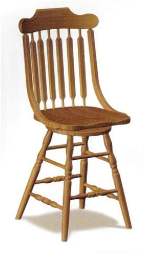 Amish Oak Bar Stools by Amish Bent Post Swivel Bar Stool Amish Furniture Oak Or