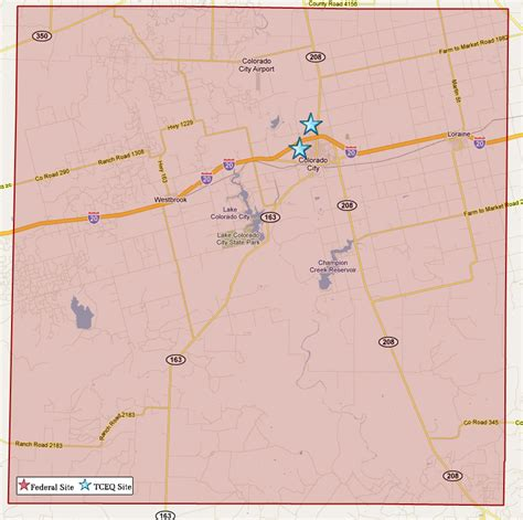 superfund sites map laminatoff superfund sites in mitchell county tceq www tceq texas gov