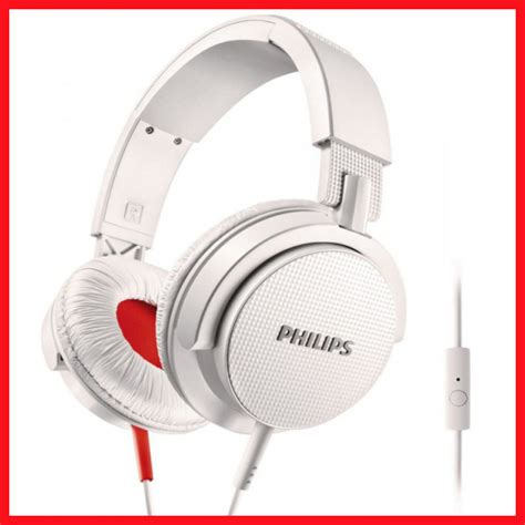 Philips Shl3065 Headphone With Mic Earphone Headset Dj Murah philips on ear dj earphone headphones with mic shl3105 white for iphones android buy