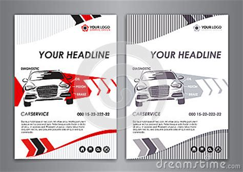 car card template a5 a4 service car business card template auto repair