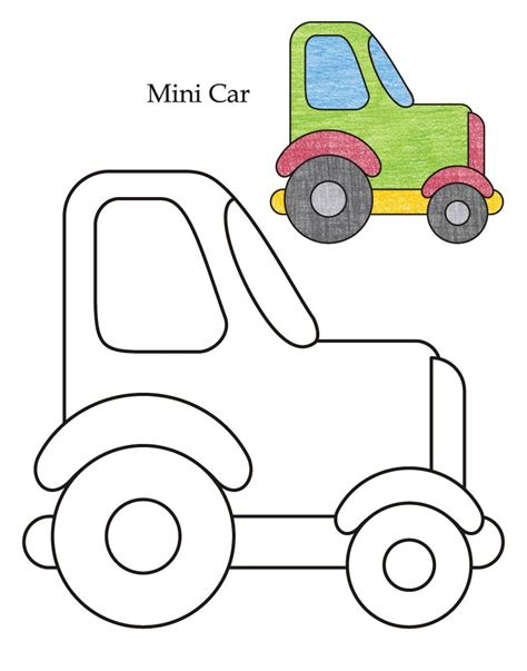 mini car coloring page 0 level mini car coloring page download free 0 level