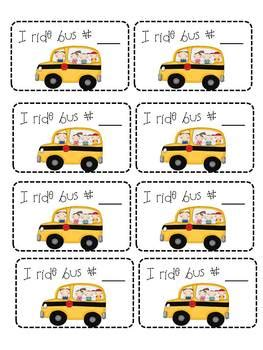 printable bus tags kindergarten reminders galore reminder tags wrist bracelets to get