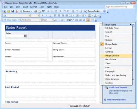 lab 1 publishing an infopath 2007 form template to a