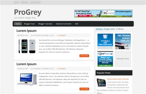 free blog templates for blogger html progrey blogger template ocabbaroglu teknoloji