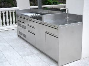 cucina da giardino cucine da giardino e da esterno in acciaio inox su misura