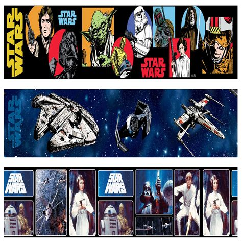 star wars wallpaper borders 5m various styles designs new