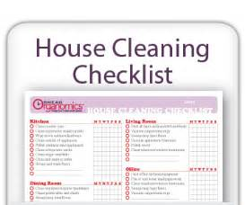 cleaning house checklist clean house clean house schedule printable