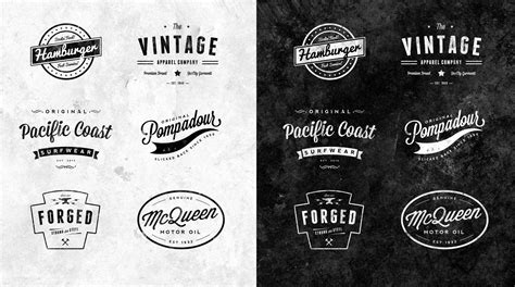 vintage style logo design photoshop great logotype badge resources type