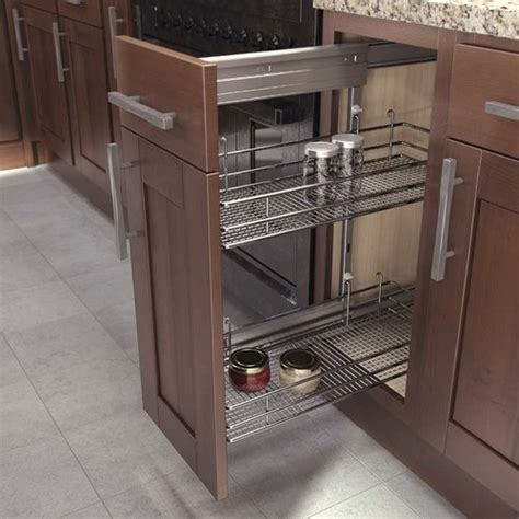 kitchen base cabinet organizers vauth sagel dsa 1 pull out frame 18 3 4 quot h silver 9000