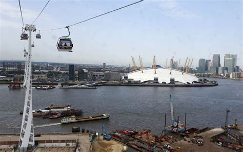 thames river boats o2 boris johnson opens cable car crossing over river thames