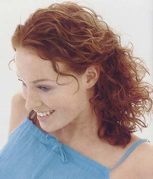 medium permed red hairstyles medium hair style with perm redish brown