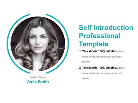 Self Introduction Professional Template Sle Presentation Ppt Powerpoint Presentation Self Presentation Template