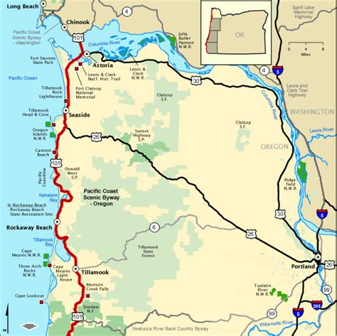 map of northern oregon oregon map