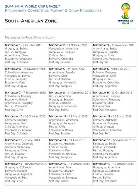 Calendario De Las Eliminatorias Sudamericanas Eliminatoria Sudamericana