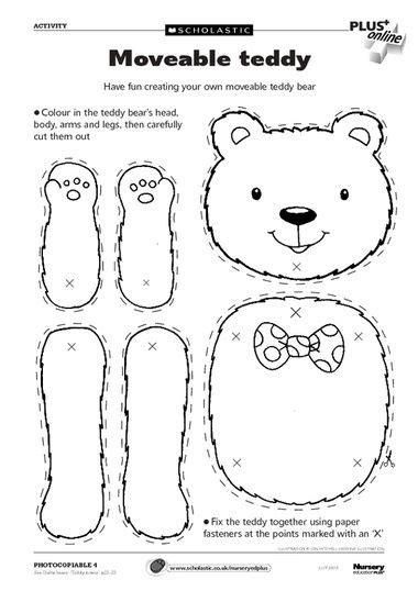 bear pattern for kindergarten 116 best images about teddy bear preschool theme on