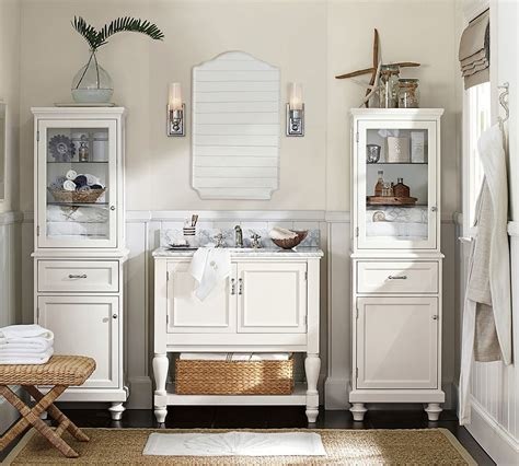 pottery barn bathroom storage bath reno 101 choosing a console
