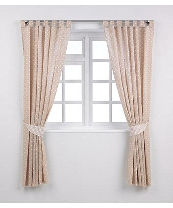 beige star curtains mothercare tab top curtains with tie backs beige stars
